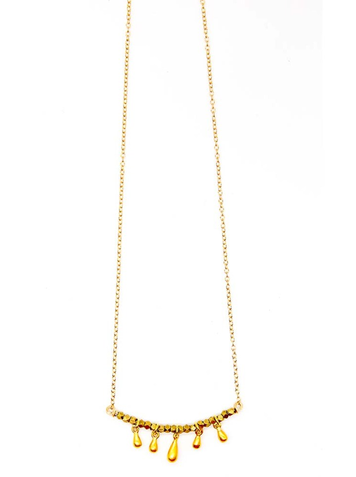 teardrop u necklace