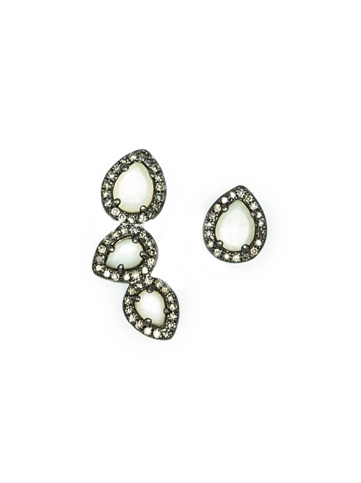 mother of pearl mismatch studs