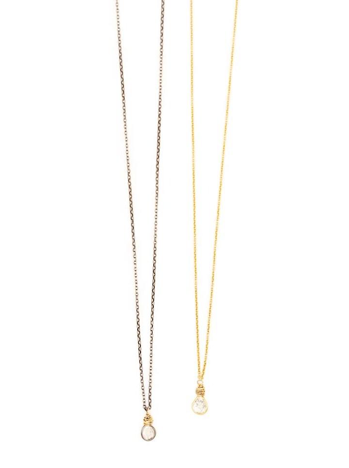 diamond slice delicate necklaces