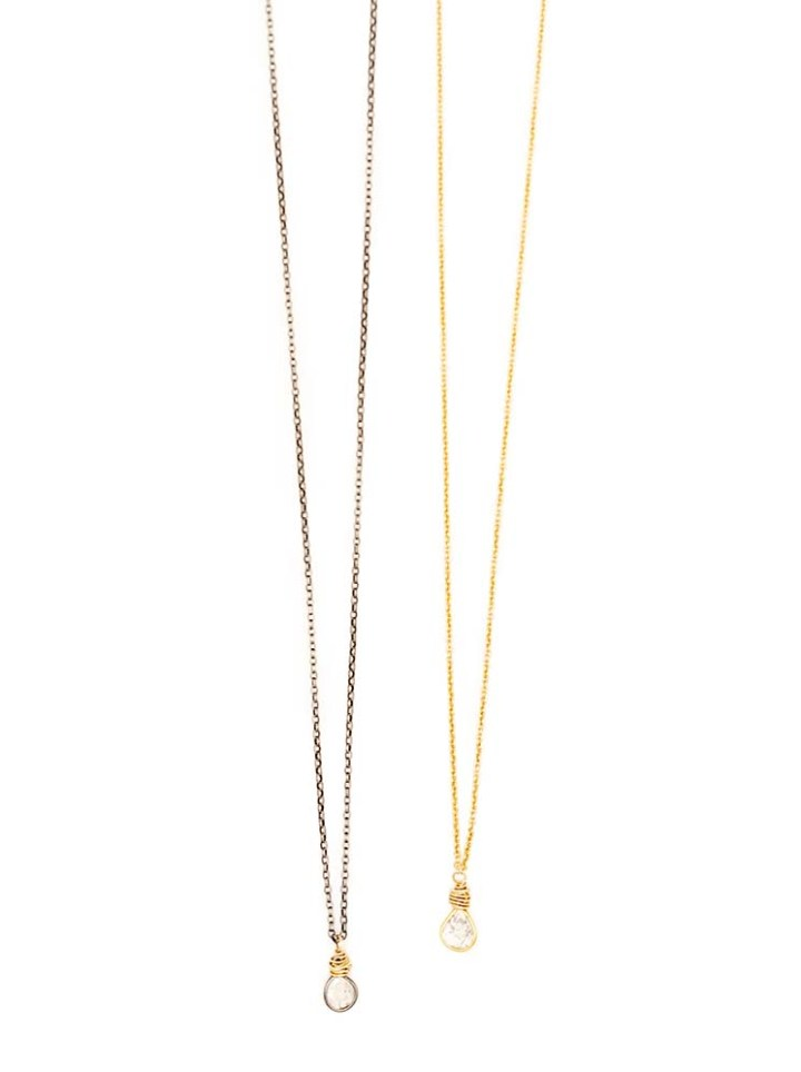 diamond slice delicate necklaces