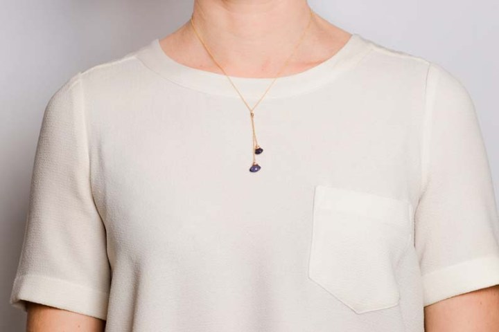 iolite fixed lariart deli necklace on omdel
