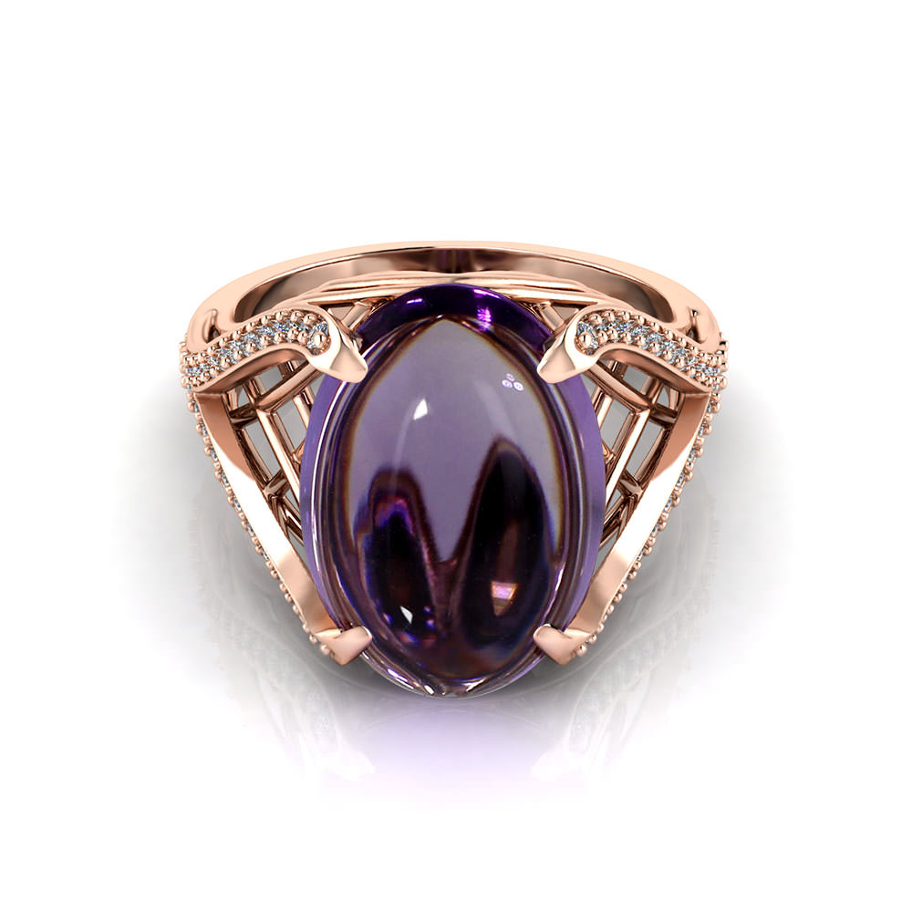 Rose Gold Amethyst Ring Jewelry Designs