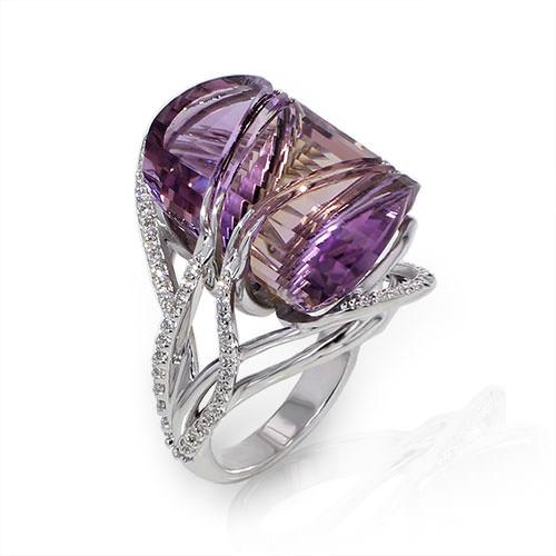 Freeform Ametrine Ring Jewelry Designs