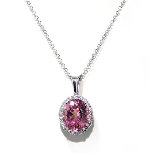 Handmade Pink Tourmaline Necklace Jewelry Designs