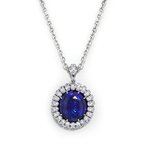 Black Opal Diamond Necklace Jewelry Designs