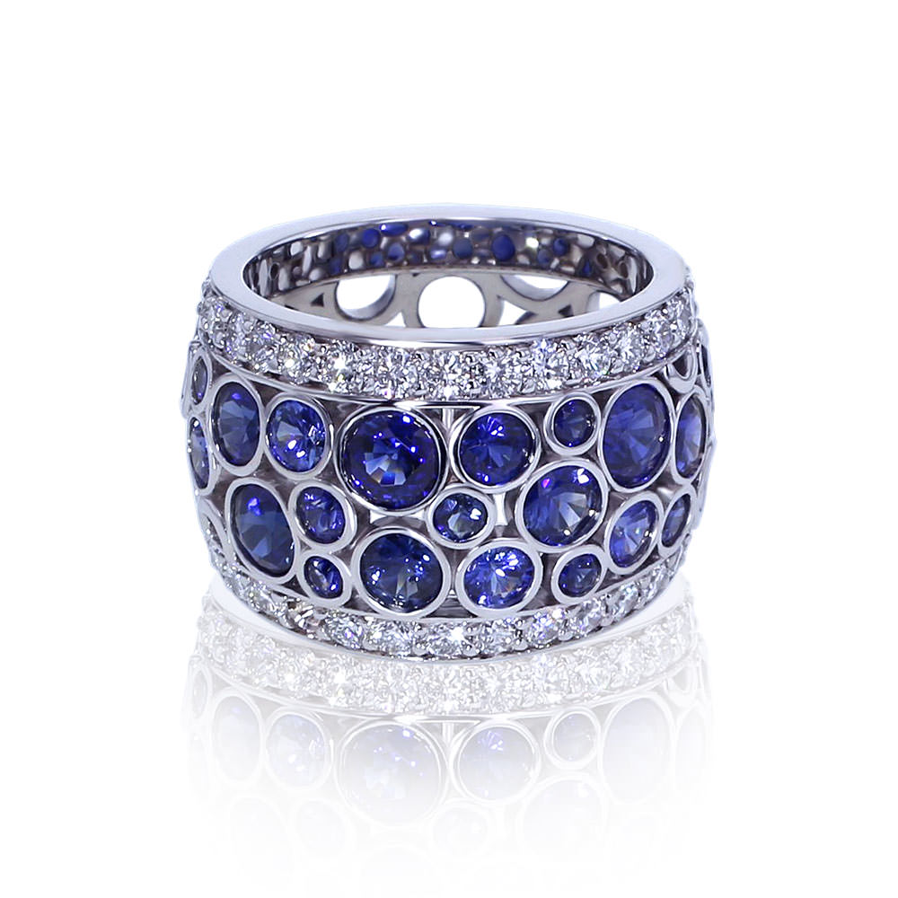 Rings Wedding Colored Gemstone