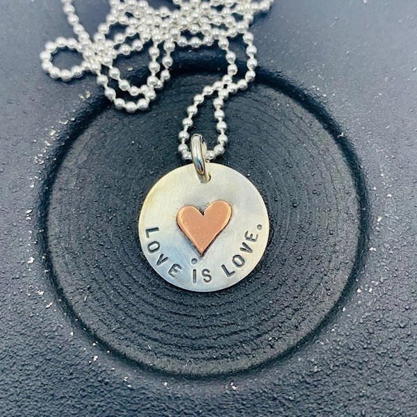 Love is Love pendant and chain