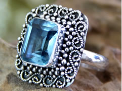 December birthstone, blue topaz