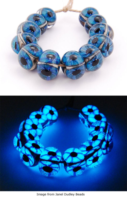 Glow in the dark beads from Janel Dudley