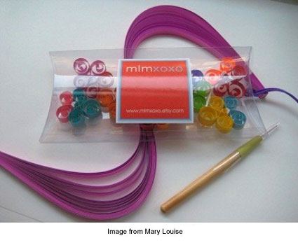 Quilling kit to make 5 necklaces