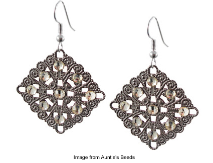 fancy filigree earrings from Auntie's Beads