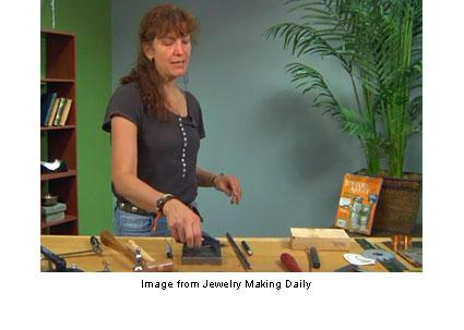 Helen Driggs teaching metalsmithing