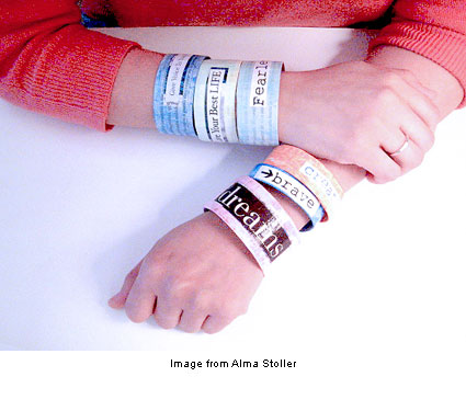 Paper bracelets from Alma Stoller