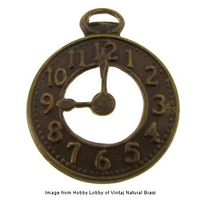 Vintaj Natural Brass Treasured Clock