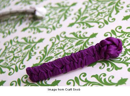 ribbon embellished hair barrette
