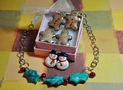 jewelry from salt dough