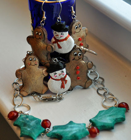 jewelry made from salt dough