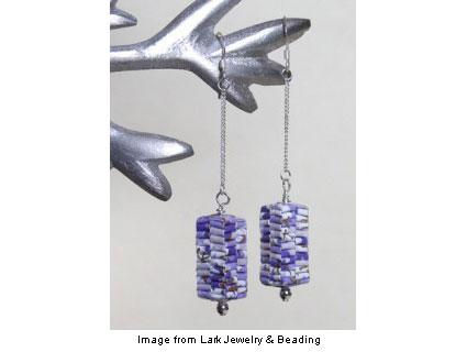 folded paper earrings