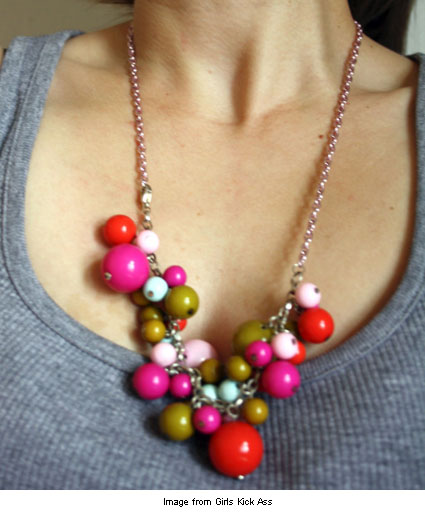 necklace made from an unworn bracelet