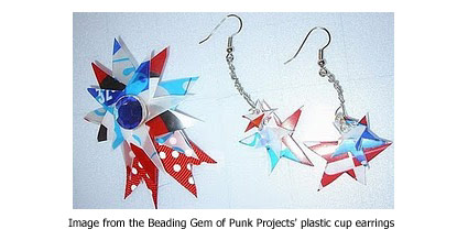 plastic cup earrings from Punk Projects