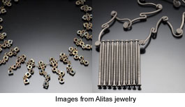 jewelry made from hardware by Alitas