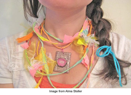 paper pendant from Alma Stoller