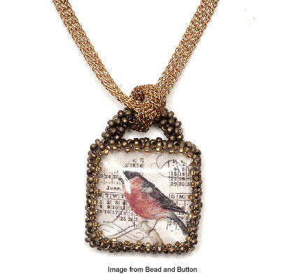 birds of a feather pendant from Bead and Button