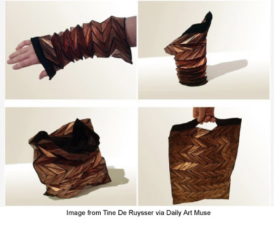 bracelet that converts into a bag from Tine De Ruysser