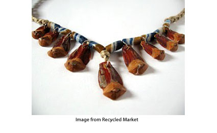 Pine cone necklace from Be-Cycle Trashion Jewellery