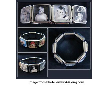 photo jewelry bracelet kits from PhotoJewelryMaking.com