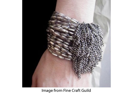 pearl and chain bracelet tutorial from Fine Craft Guild
