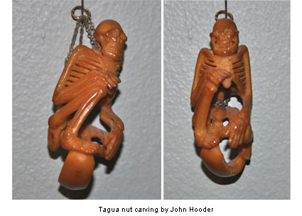 Tagua nut carving created by John Hooder