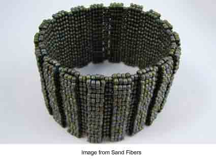 Ribbed Peyote Cuff from Carol Dean Sharpe