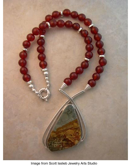 jasper cabochon necklace by Scott Isslieb