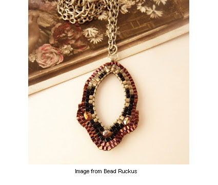 woven necklace for giveaway at Bead Ruckus