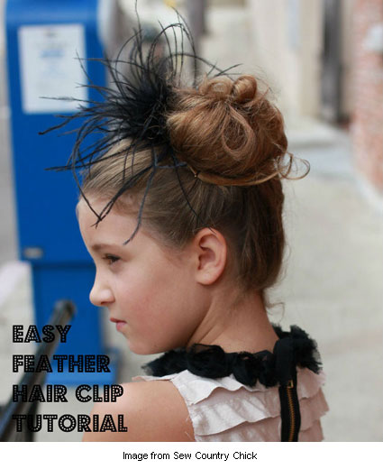 feathered hair clip from Sew Country Chick