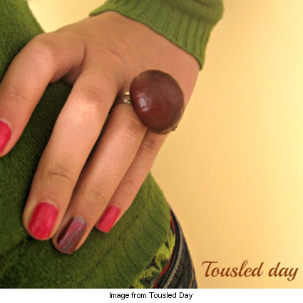 quick and pretty chestnut ring from Tousled Day