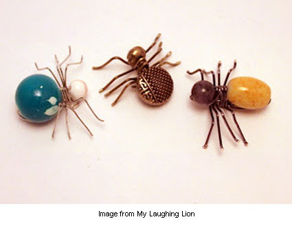 Beaded spiders tutorial from Frances at My Laughing Lion