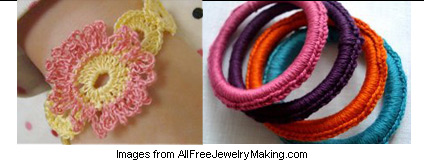 crochet jewelry projects from AllFreeJewelryMaking.com
