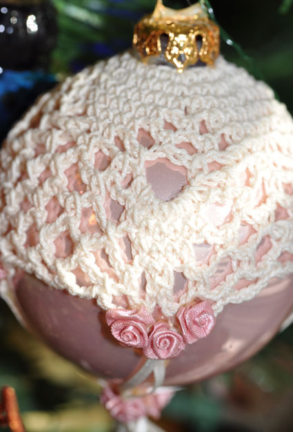 Victorian style crochet ornament covers