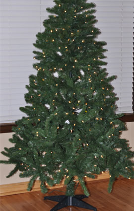 Assembled tree ready to decorate!