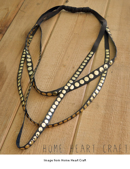 leather and studs necklace from Home Heart Craft
