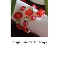 easy, pretty beaded napkin rings