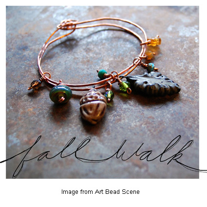 """Fall Walk"" bracelet from Gaea at Art Bead Scene"
