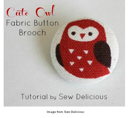 Owl brooch from Sew Delicious