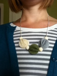 Felt Fan Necklace