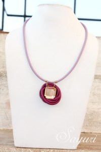 Gem Leather Necklace