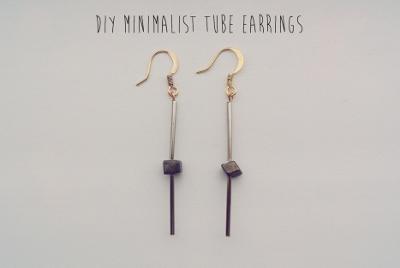 DIY Minimalist Tube Earrings