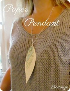 Paper Bead Pendant