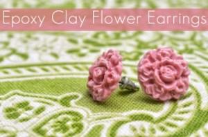 Clay Flower Earrings
